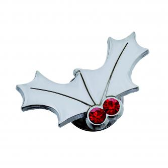 Cancer Research holly Pin Badge