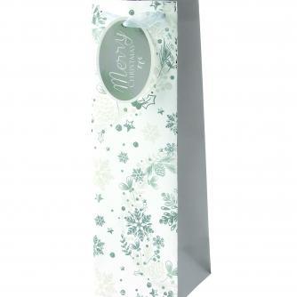 Ice Sparkle Bottle Bag Cancer Research uk Christmas Bag