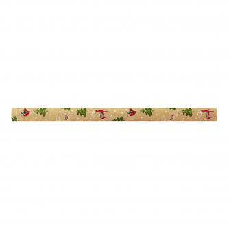 Kraft Christmas Icons rolled wrap, cancer research uk