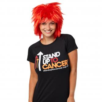 Stand Up To Cancer Red Spiky Wig