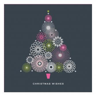spiral tree cancer research uk christmas card
