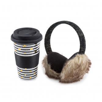 totes Ceramic Travel Mug & Earmuff Gift Set