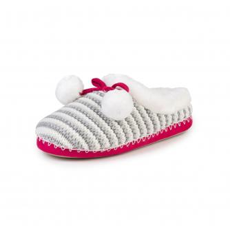 totes Knitted Mule Slippers in Mutli