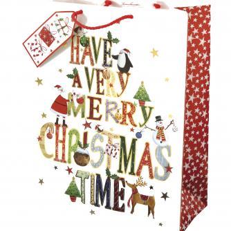 Whimsical Large Bag Cancer Research uk Christmas Bag