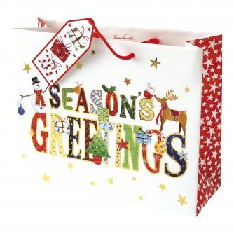 Whimsical Medium Bag Cancer Research uk Christmas Bag
