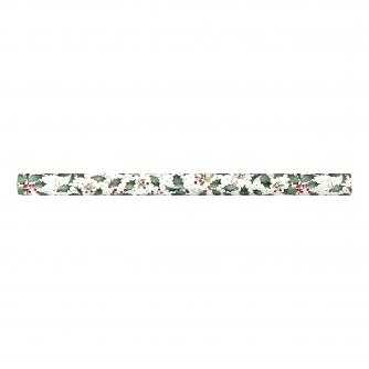 White Festive Foliage Rolled Wrap Cancer Research UK