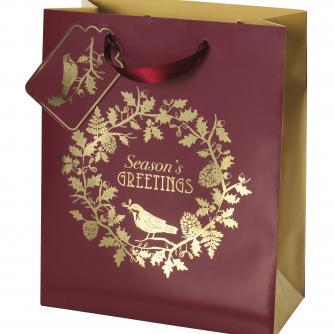 Woodland Bird Medium Bag Cancer Research uk Christmas Bag
